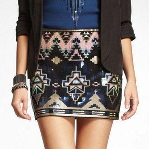 🎉Like New, Express Sequins Skirt, Size Medium